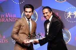 RAJKUMMAR RAO receiving the award for Power Brands Best Actor-Male Category at the PB-BFJA 2018 for the movie- TRAPPED